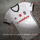 Beşiktaş iç saha beyaz forması