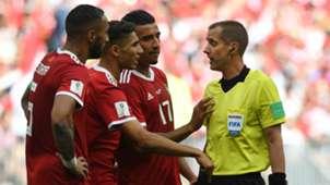 Morocco Portugal Referee Mark Geiger WC 2018