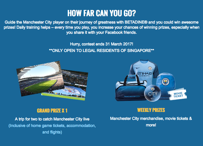 Man City Betadine contest details