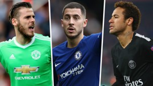 David de Gea Eden Hazard Neymar Split