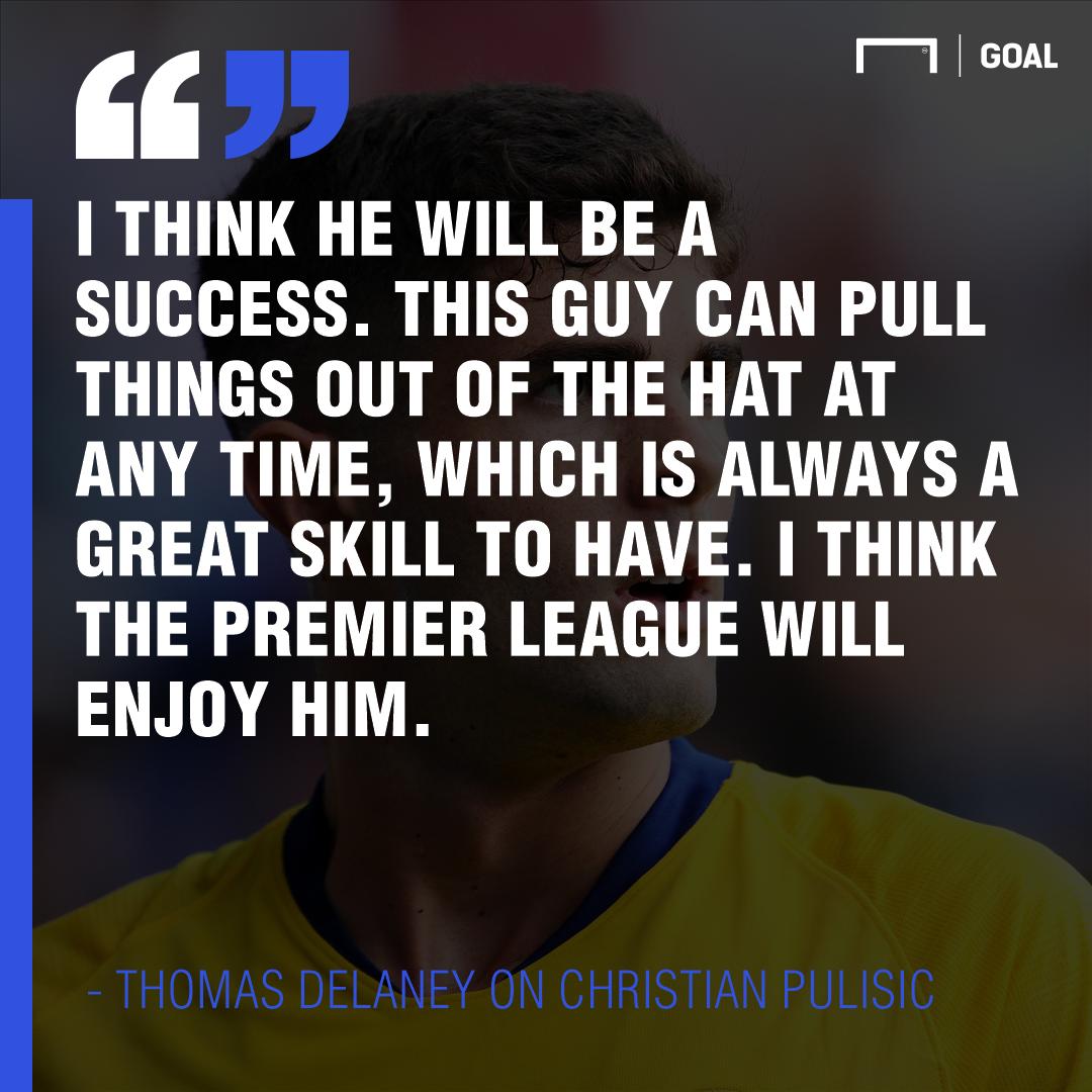 Thomas Delaney Christian Pulisic 2019