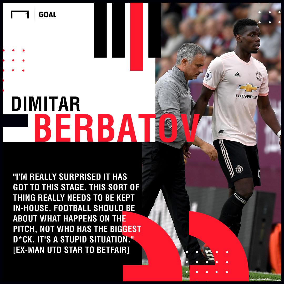 Paul Pogba Jose Mourinho stupid Dimitar Berbatov