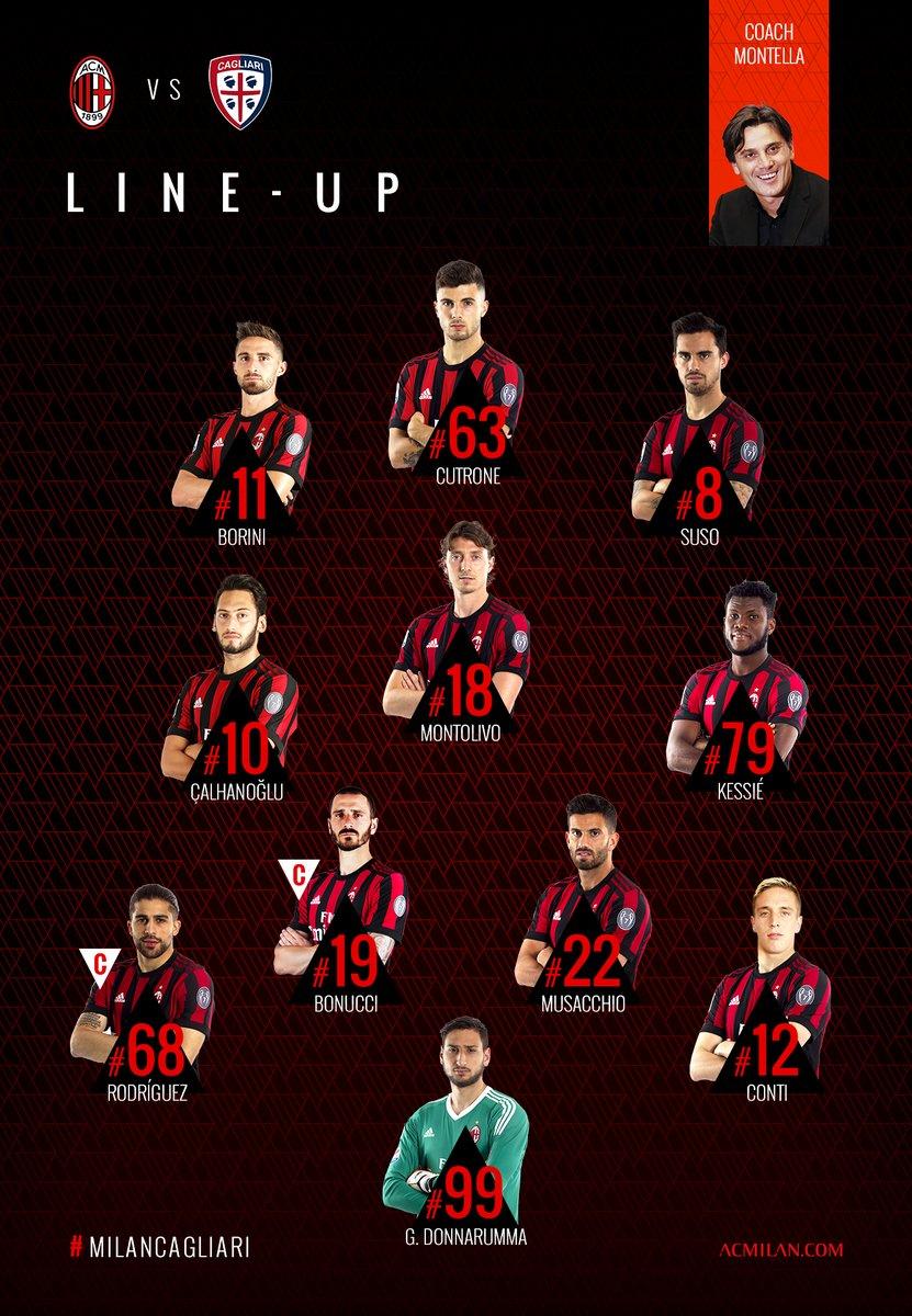 Milan vs Cagliari 27-8-17