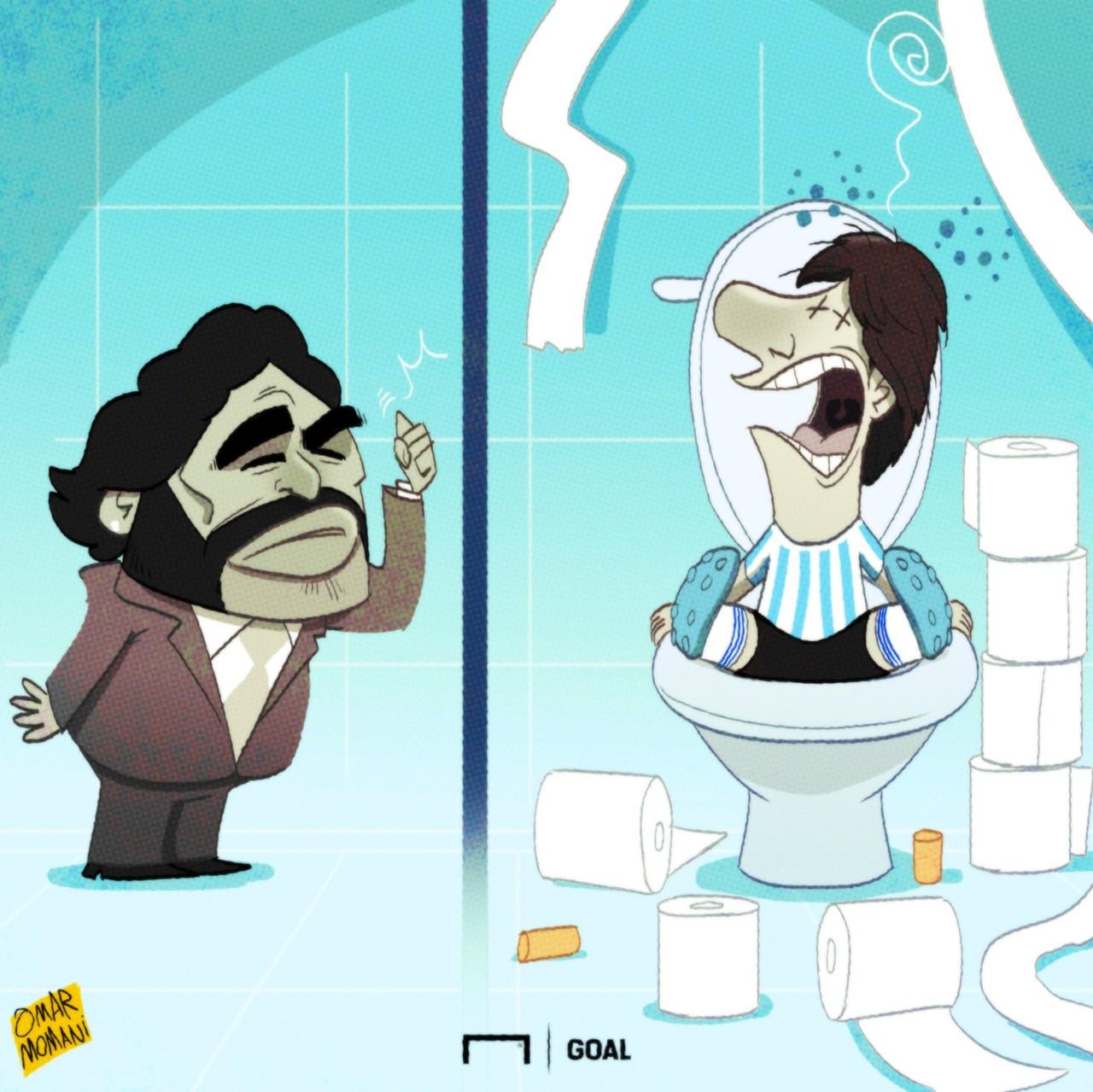 Messi's toilet troubles