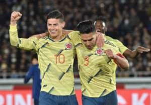 James & Falcao Colombia - Japón Amistoso 2019