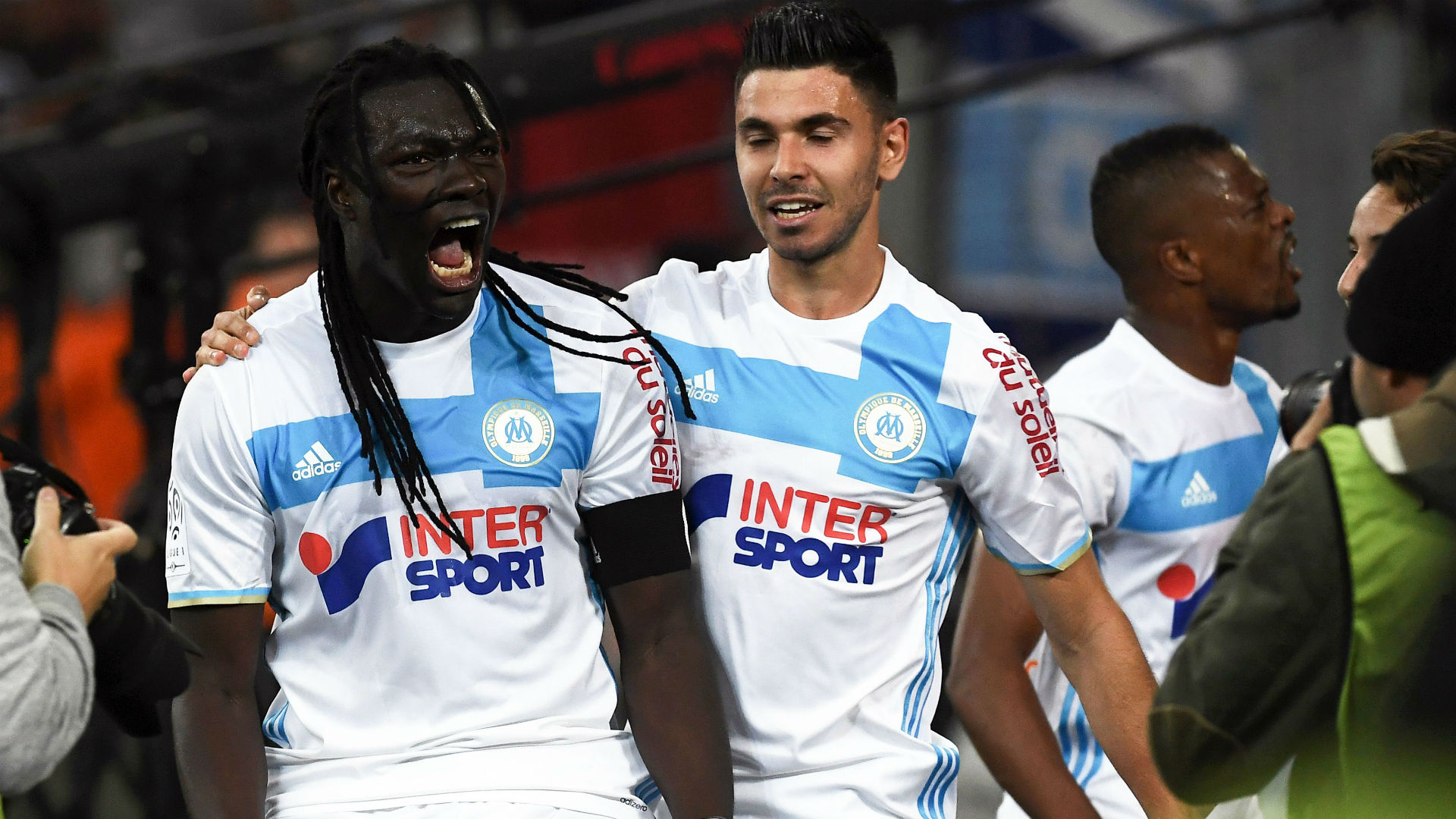 Bafetimbi Gomis Morgan Sanson Marseille Saint-Etienne Ligue 1 16042017