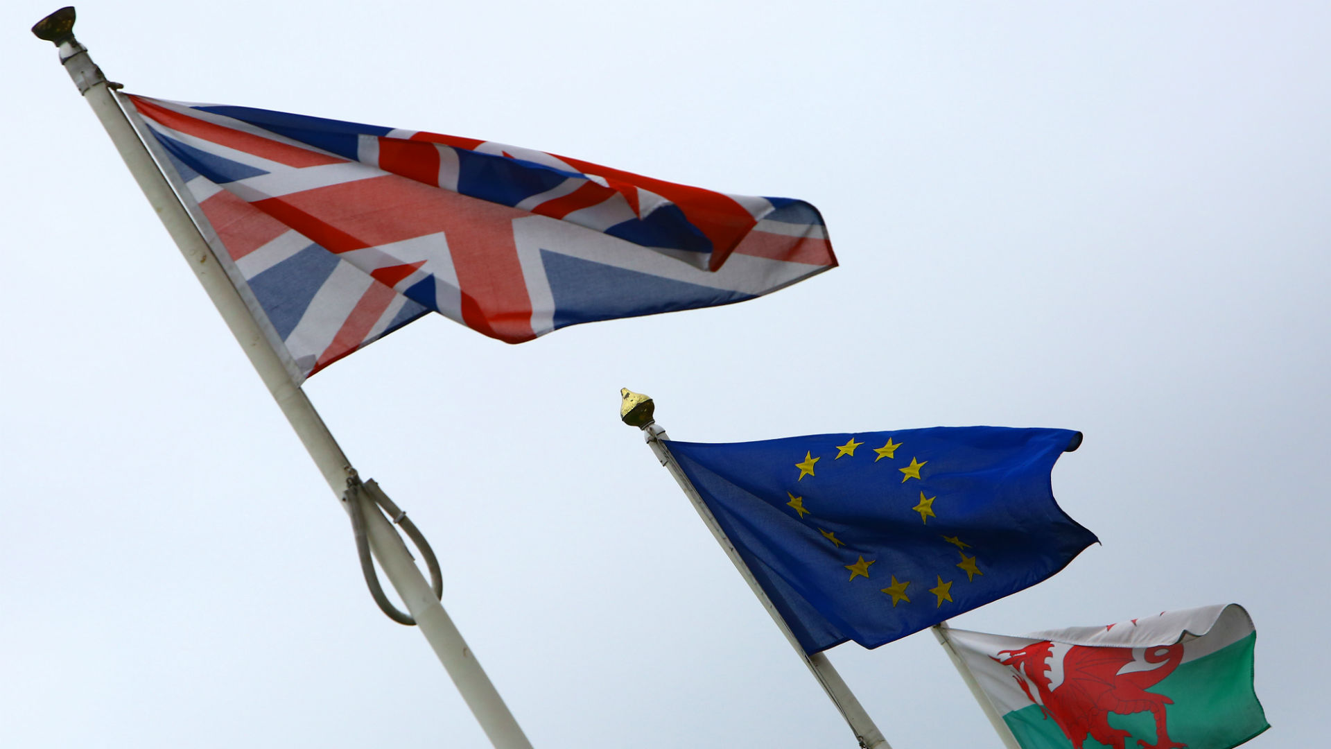 UK EU Wales Flags