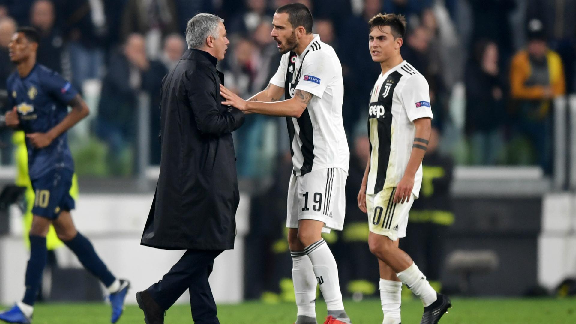 Josè Mourinho Leonardo Bonucci Juventus Manchester United