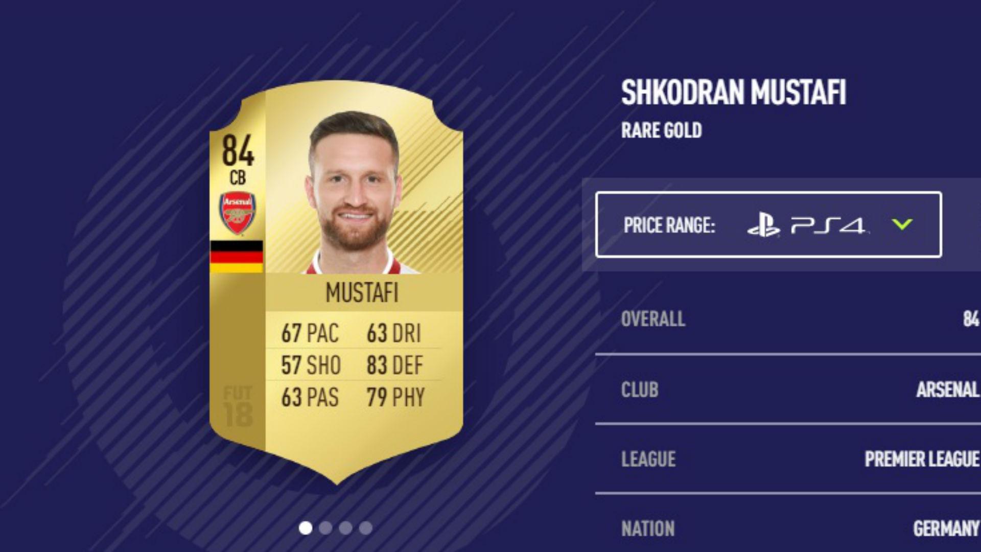 Shkodran Mustafi FIFA 18