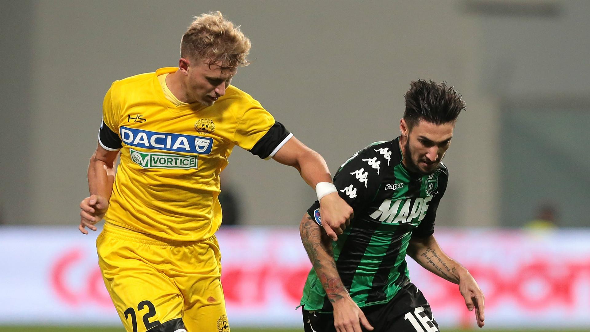 Matteo Politano, Antonin Barak, Sassuolo, Udinese, Serie A, 25102017
