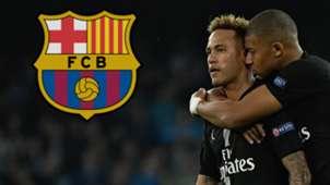Neymar Kylian Mbappe Barcelona GFX