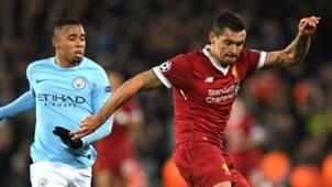 Gabriel Jesus Manchester City Dejan Lovren Liverpool