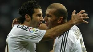 Luis Figo Zinedine Zidane Real Madrid 14112004