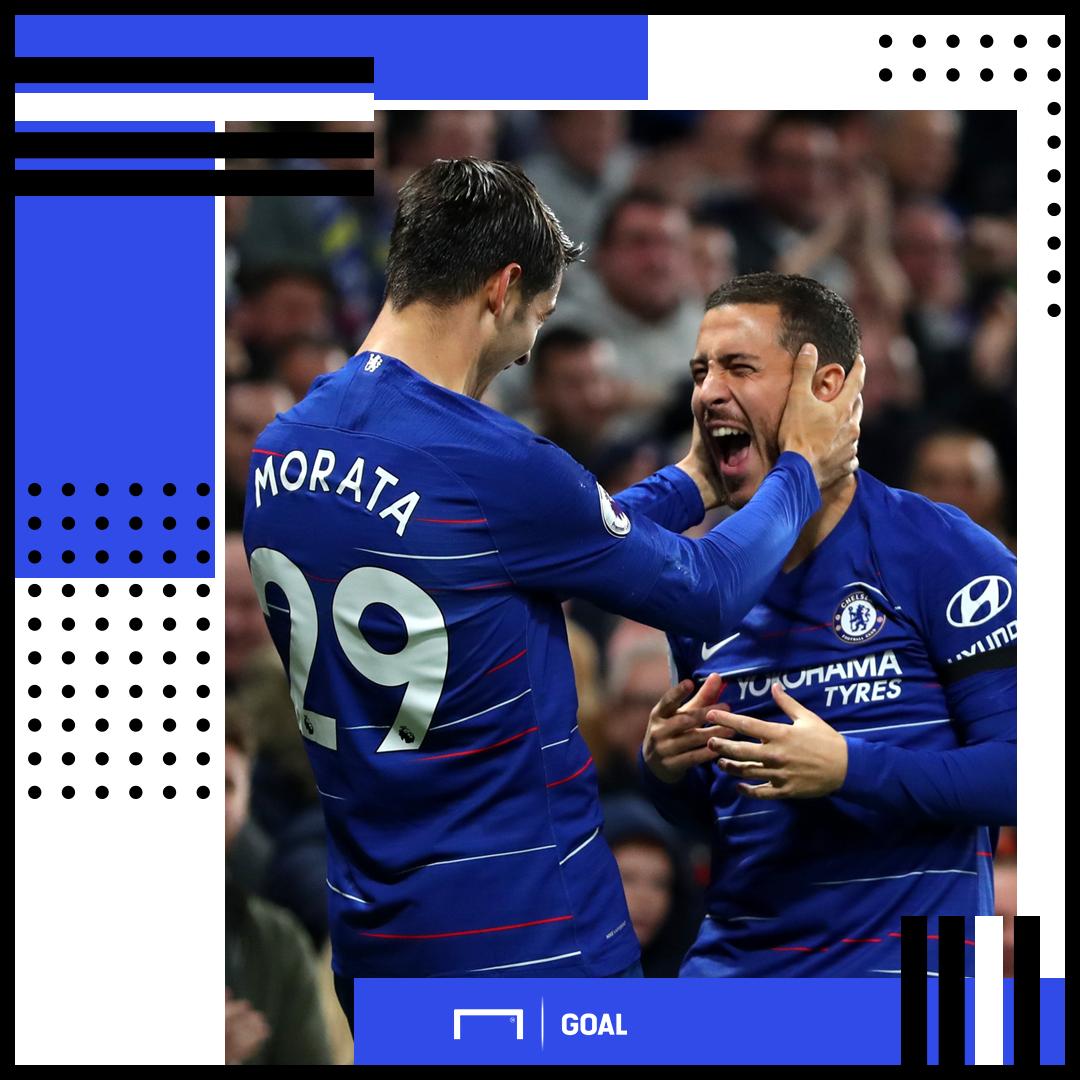 Alvaro Morata Eden Hazard Chelsea PS