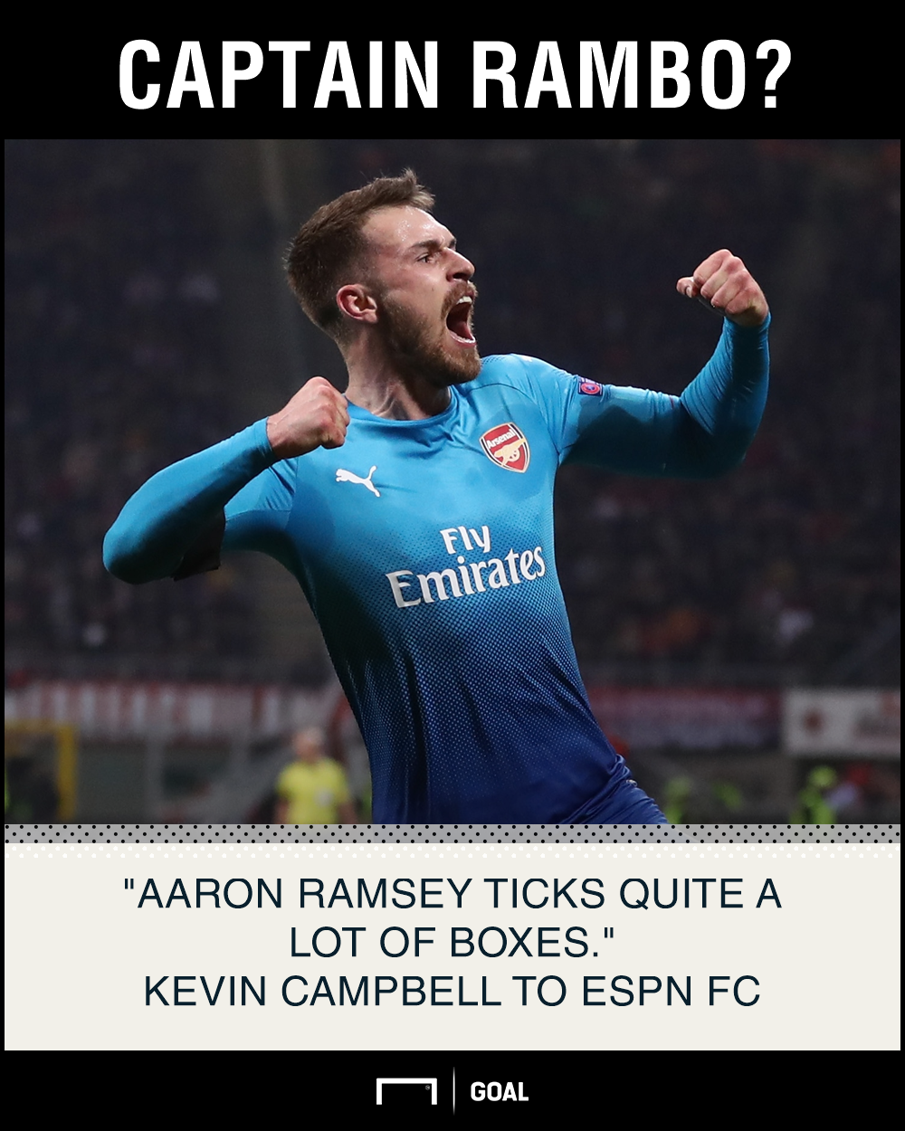 Aaron Ramsey Arsenal captain Kevin Campbell
