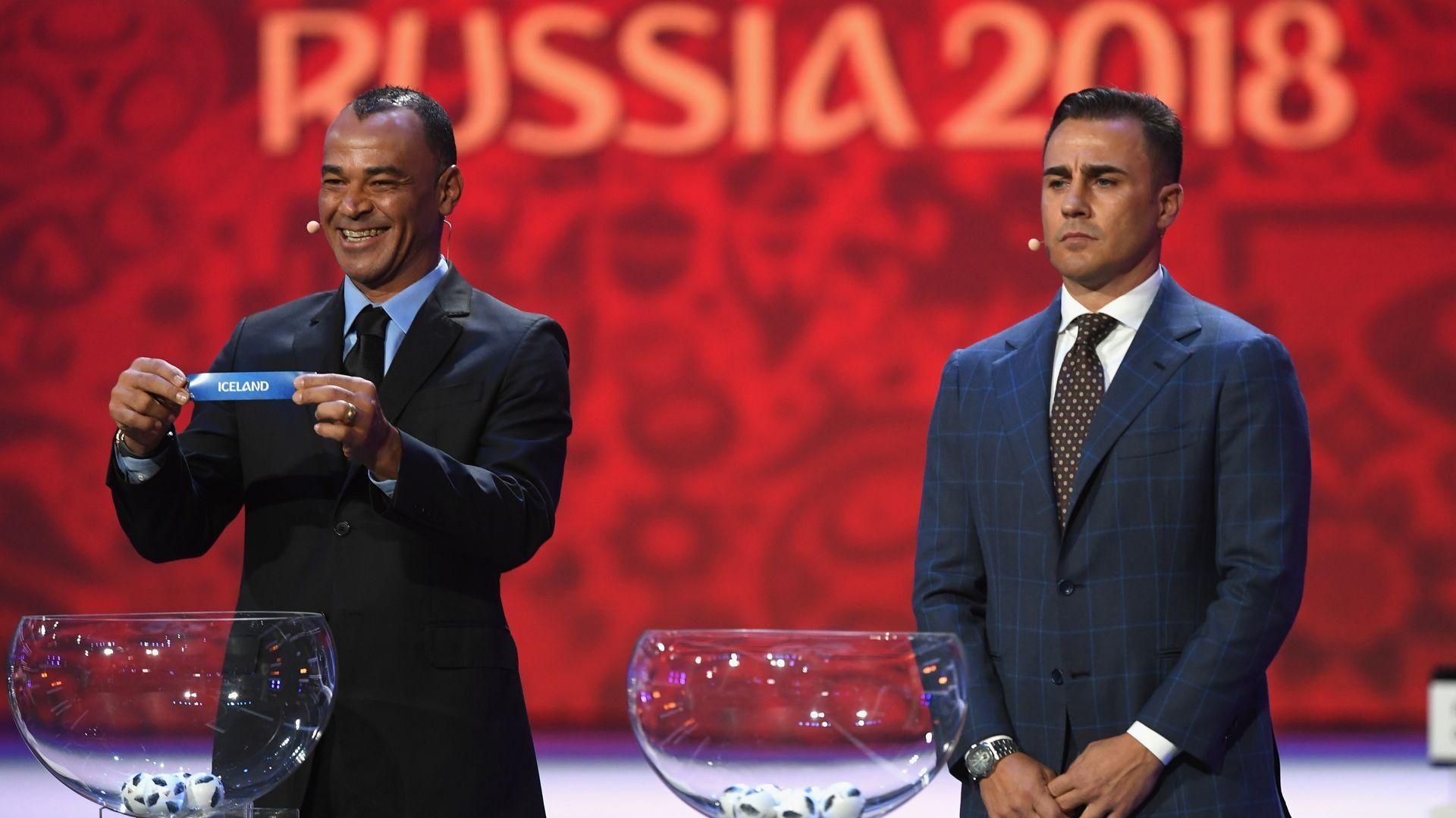 Fabio Cannavaro Cafu Iceland FIFA World Cup 2018 draw