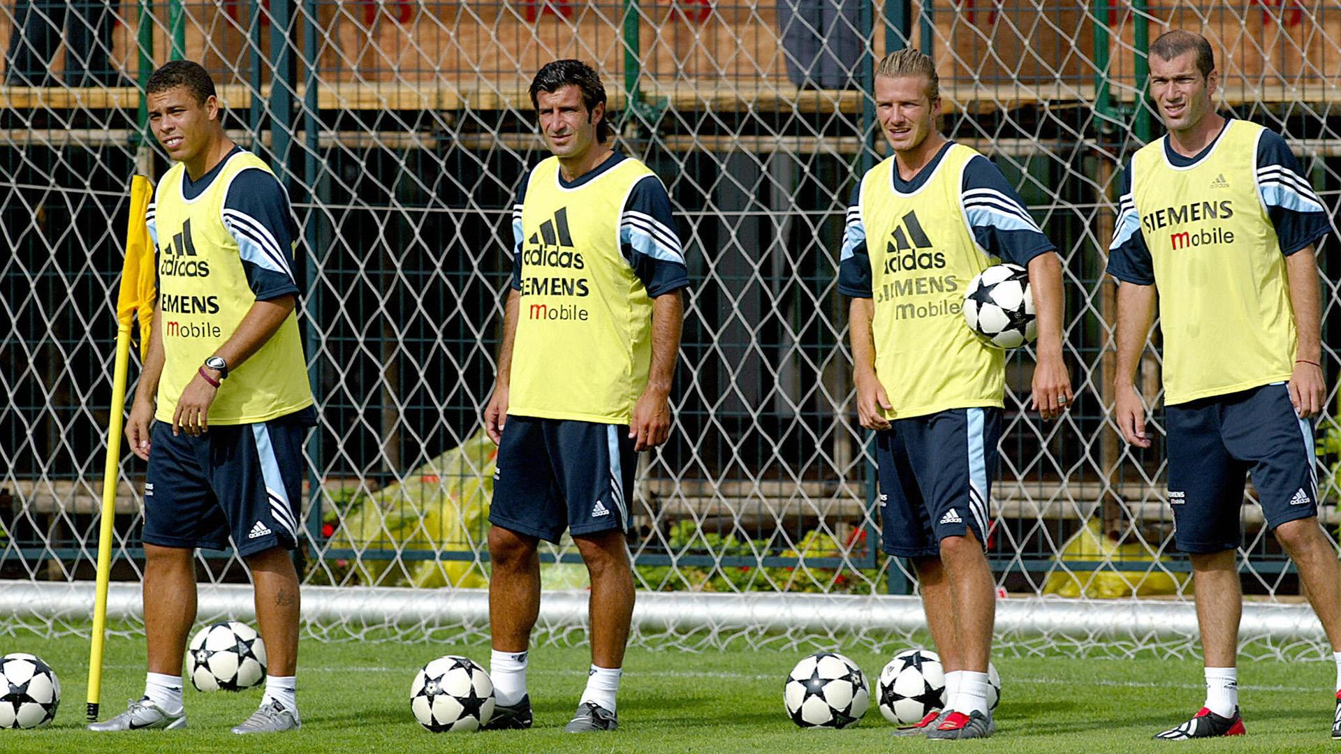 Ronaldo Luis Figo David Beckham Zinedine Zidane Real Madrid