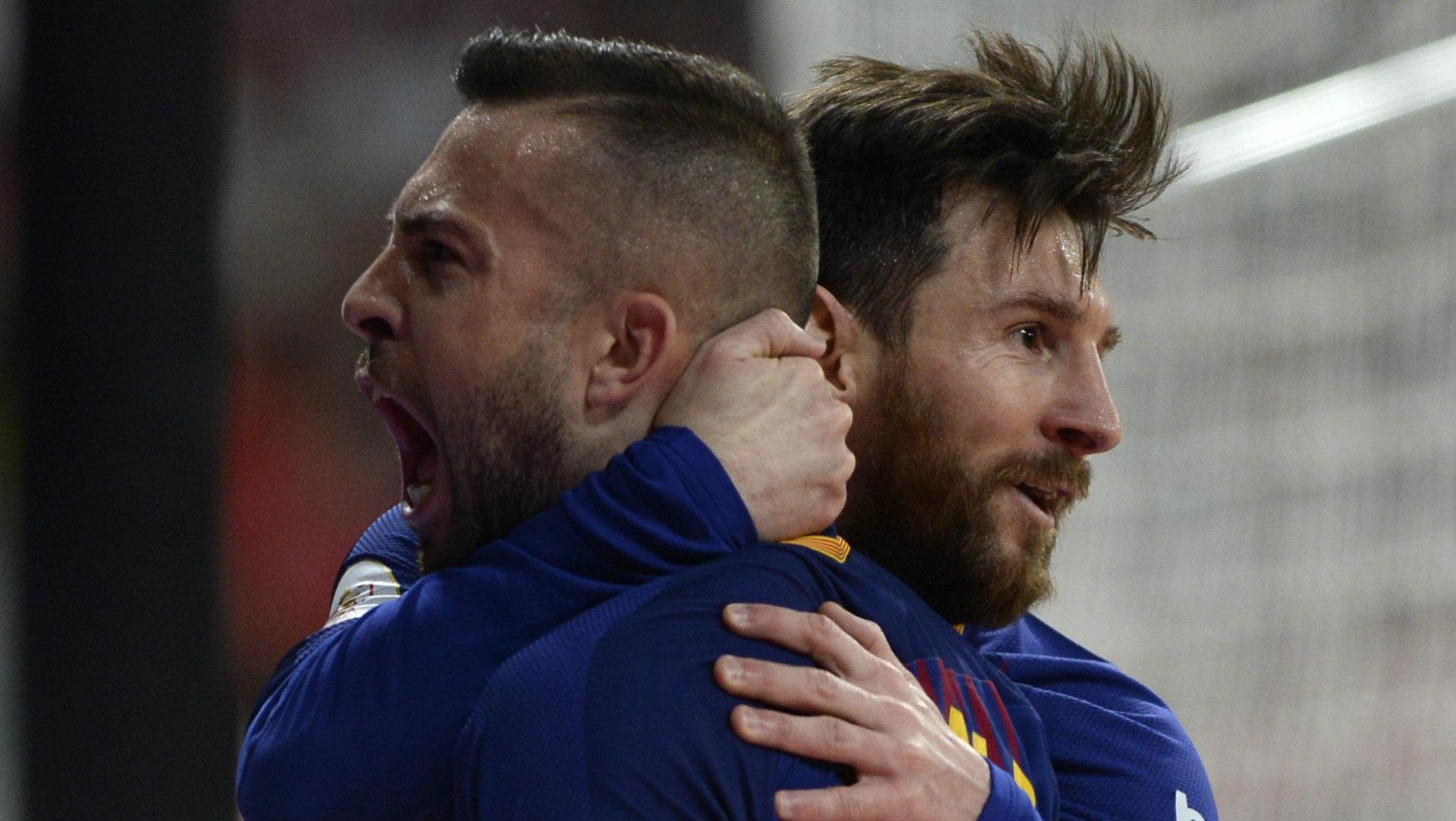 Jordi Alba, Lionel Messi, Barcelona, 17/18