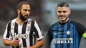 Gonzalo Higuain, Mauro Icardi, Juventus vs Inter