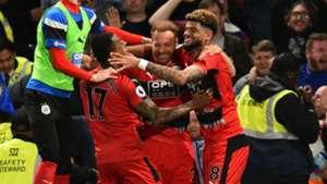 Huddersfield Town celebrate 2017-18