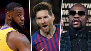 LeBron James Lionel Messi Floyd Mayweather