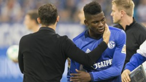 *GERMANY ONLY* Breel Embolo Domenico Tedesco FC Schalke 04 29092017