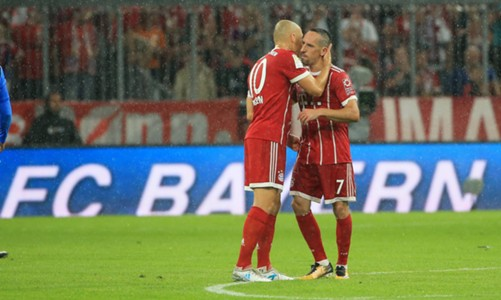 *GER ONLY / NO GAL* Arjen Robben Franck Ribery FC Bayern