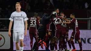 Torino celebrating Milan Serie A