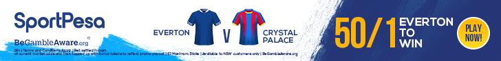 Everton Crystal Palace SportPesa offer