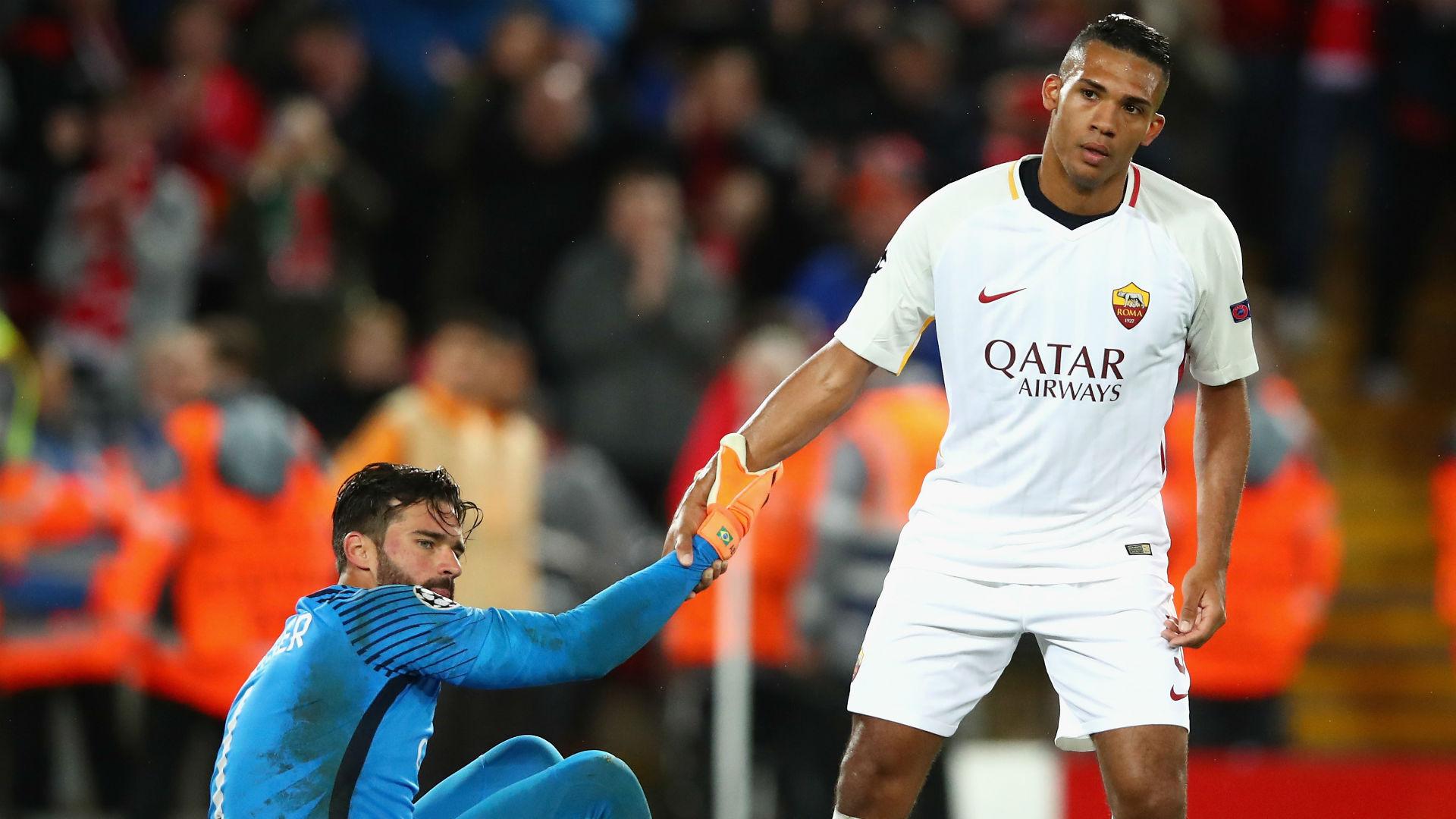 Juan Jesus Alisson Roma Liverpool Champions League