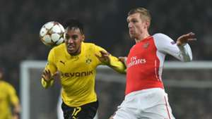 Per Mertesacker Arsenal Pierre-Emerick Aubameyang Dortmund