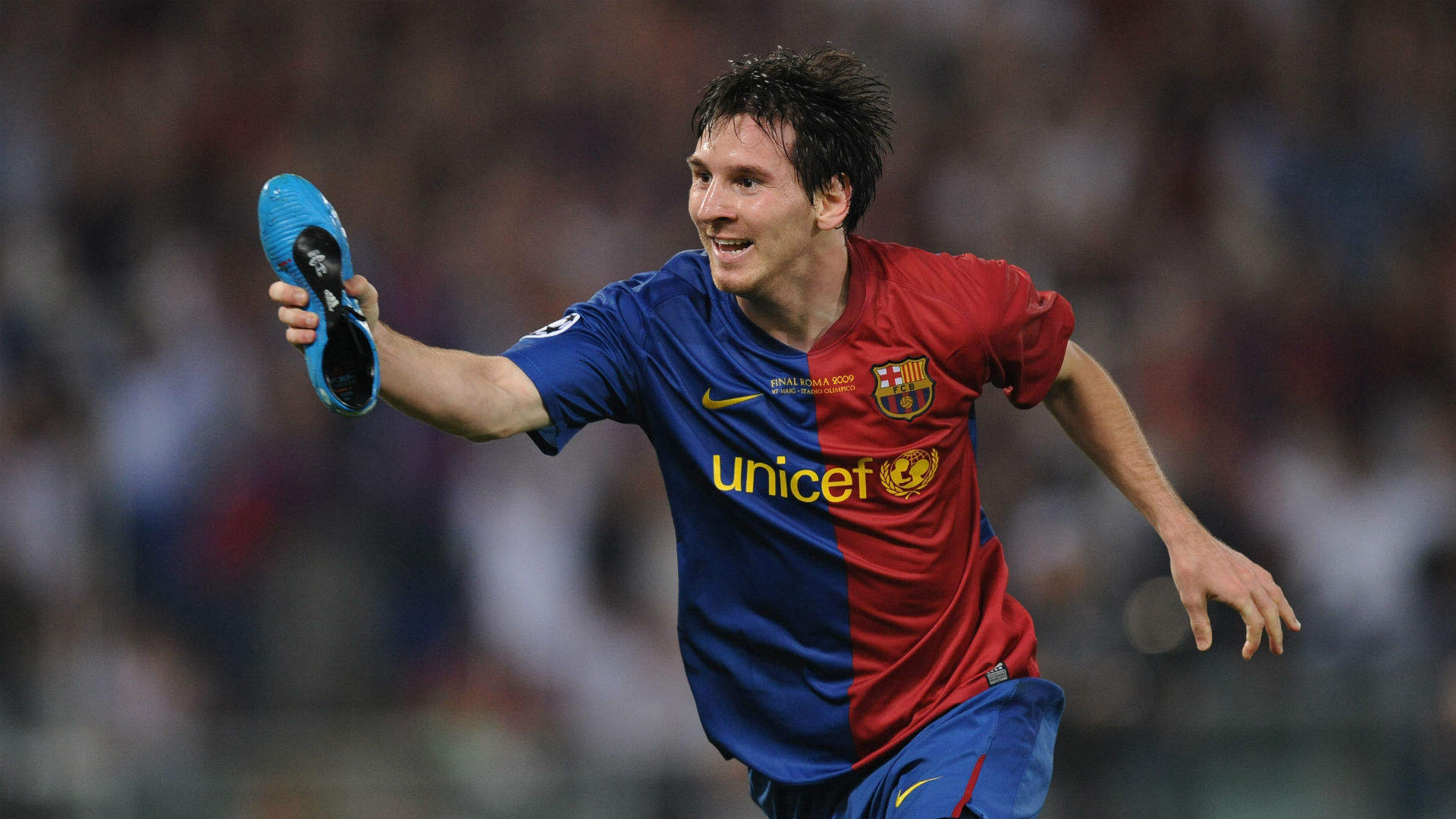 Lionel Messi Barcelona Adidas F50i 2009 CL final