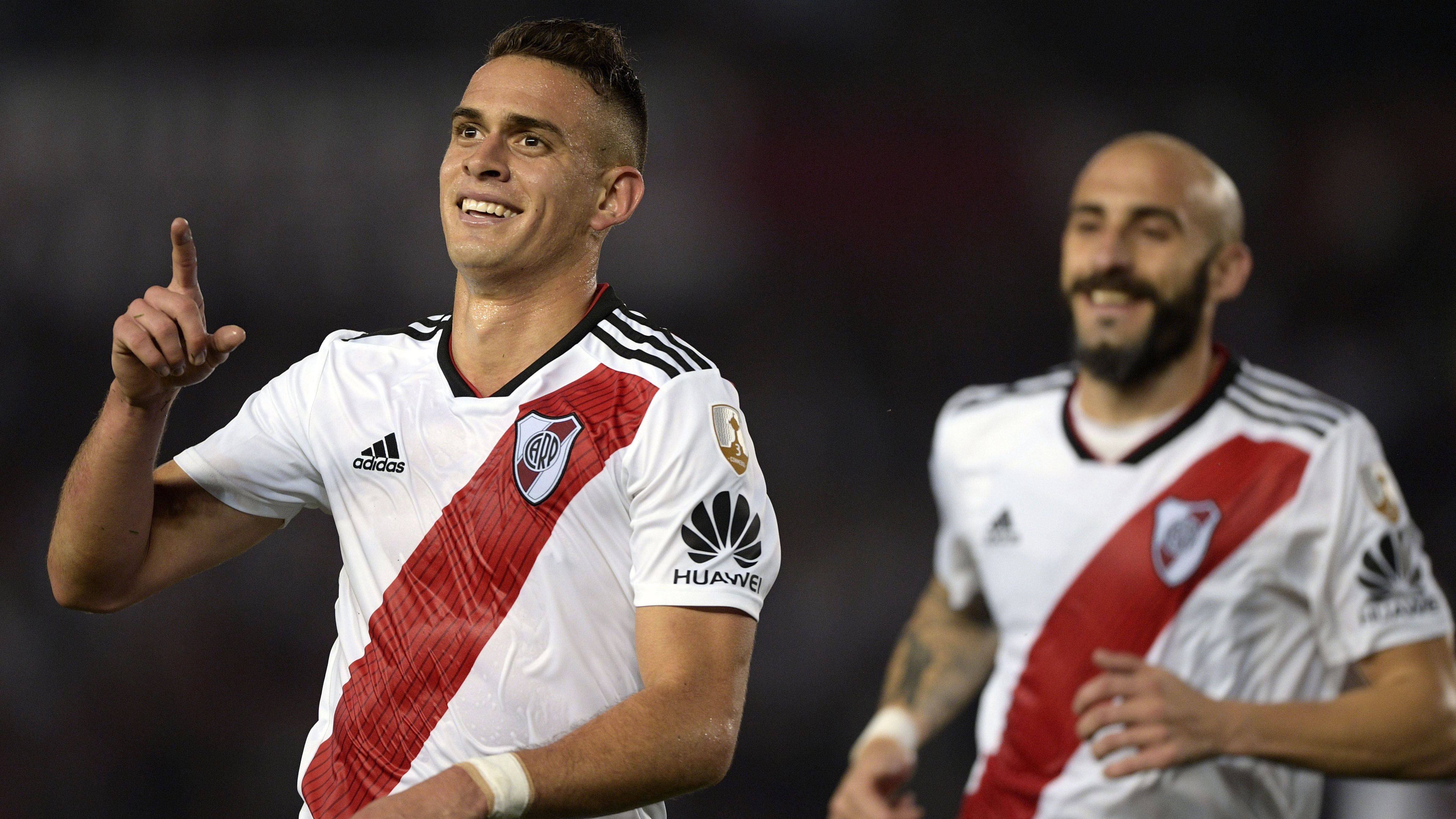 AFP River Plate Racing Club Copa CONMEBOL LIbertadores 29082018 Rafael Santos Borre Javier Pinola