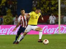 James Rodríguez Colombia vs Paraguay Eliminatoria 051017