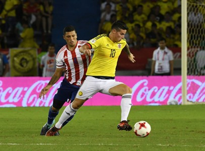 James Rodríguez Colombia vs Paraguay Eliminatoria 051017