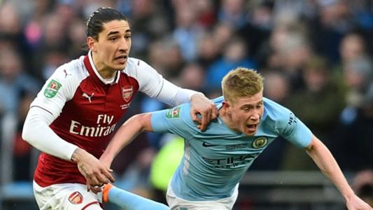 Hector Bellerin Kevin De Bruyne Arsenal Manchester City