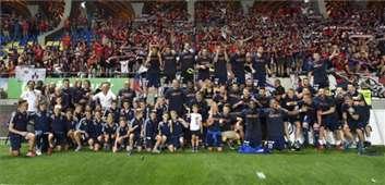 Videoton bajnoki ünneplés
