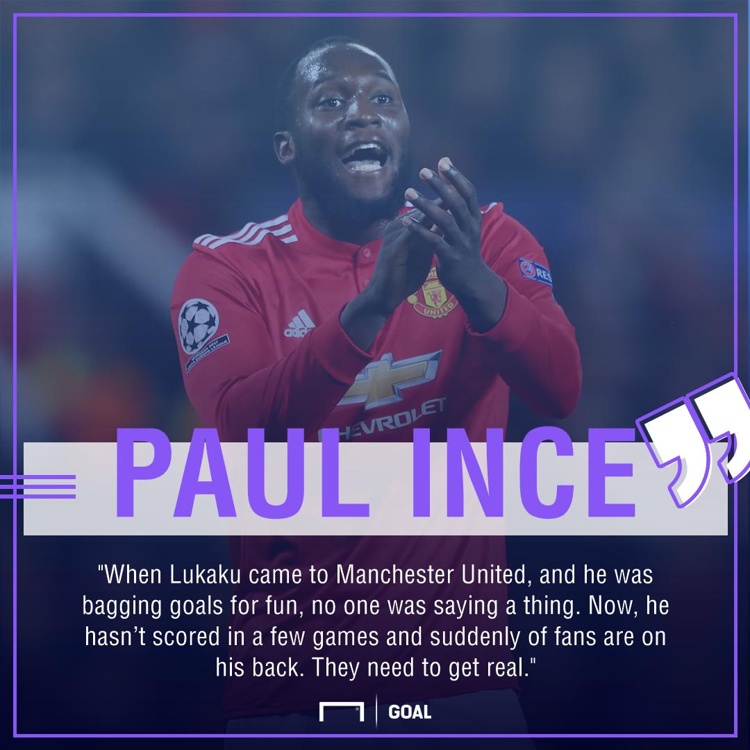 Paul Ince Romelu Lukaku Manchester United fans get real