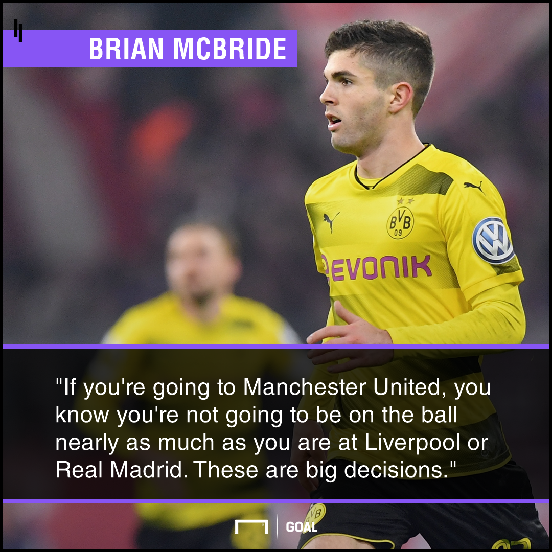 Christian Pulisic Liverpool Real Madrid over Manchester United Brian McBride