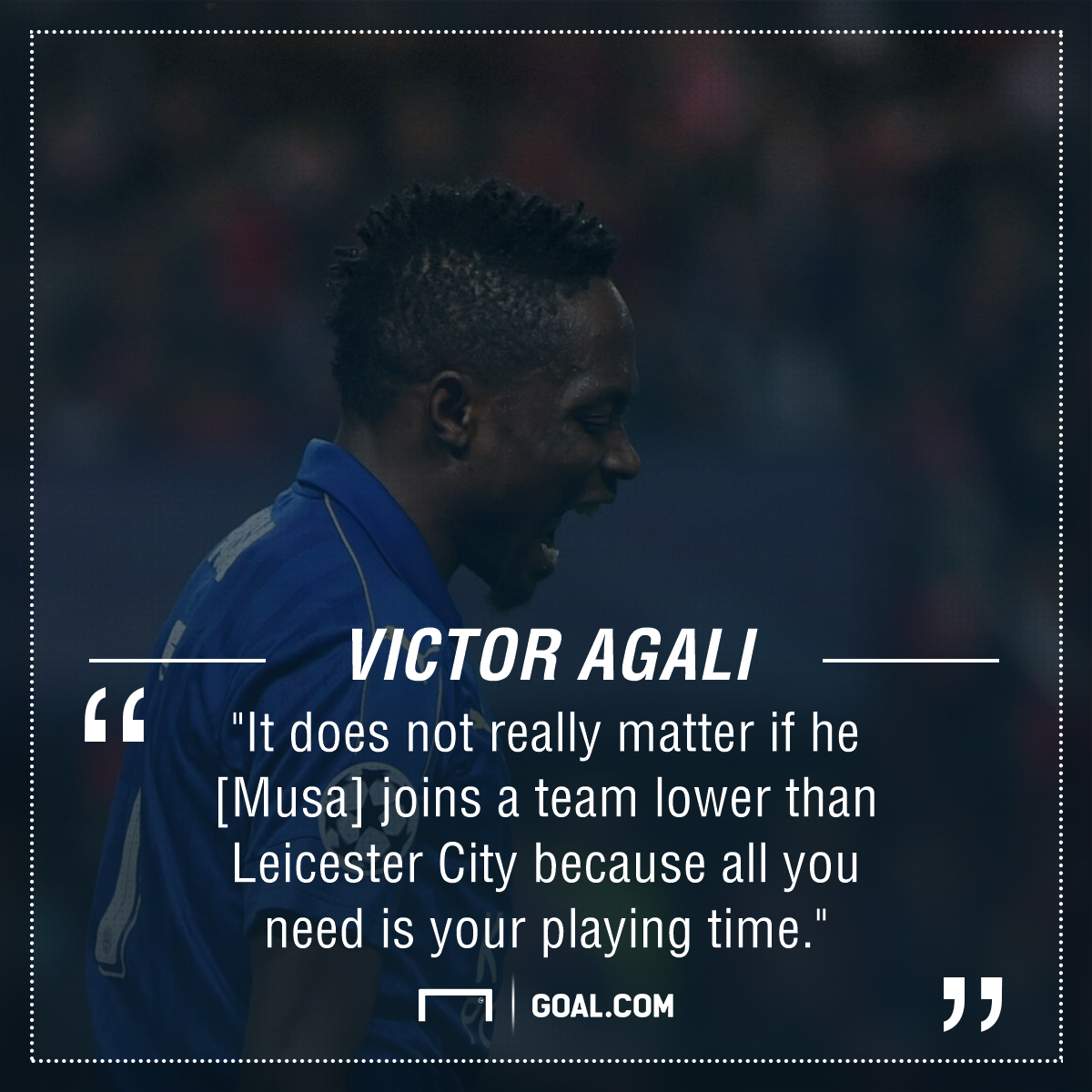 Victor Agali on Ahmed Musa