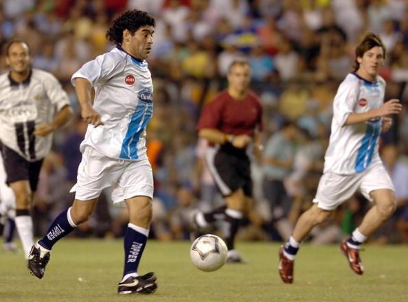 Maradona Messi La Bombonera 2005