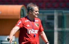 Diego Aguirre comanda treino do São Paulo
