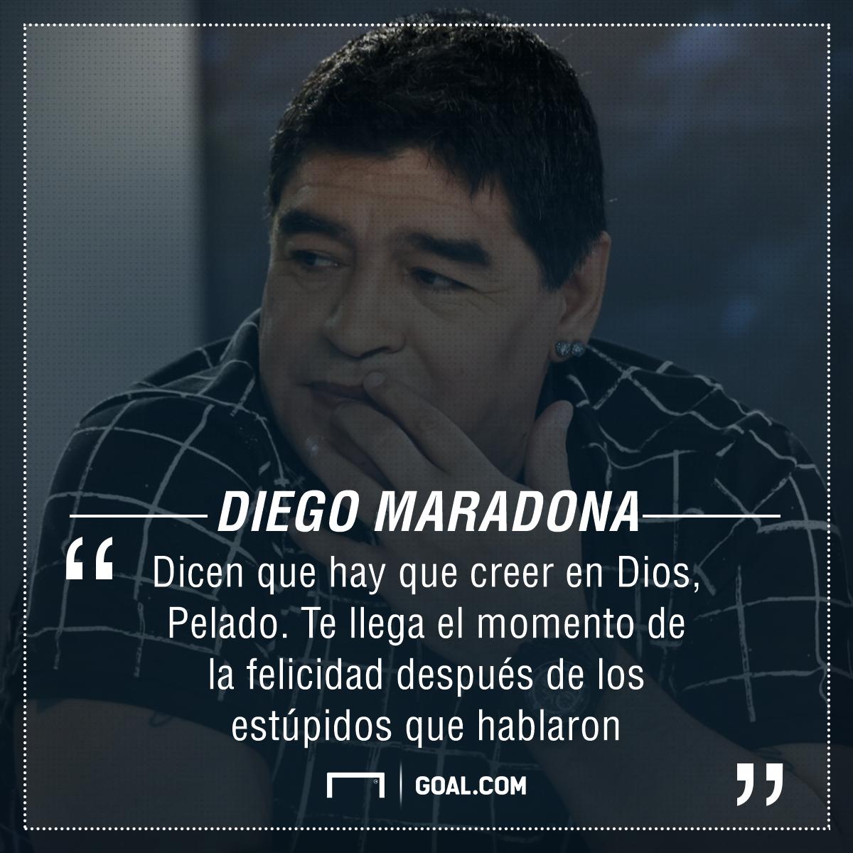 Frase Maradona para Almeyda