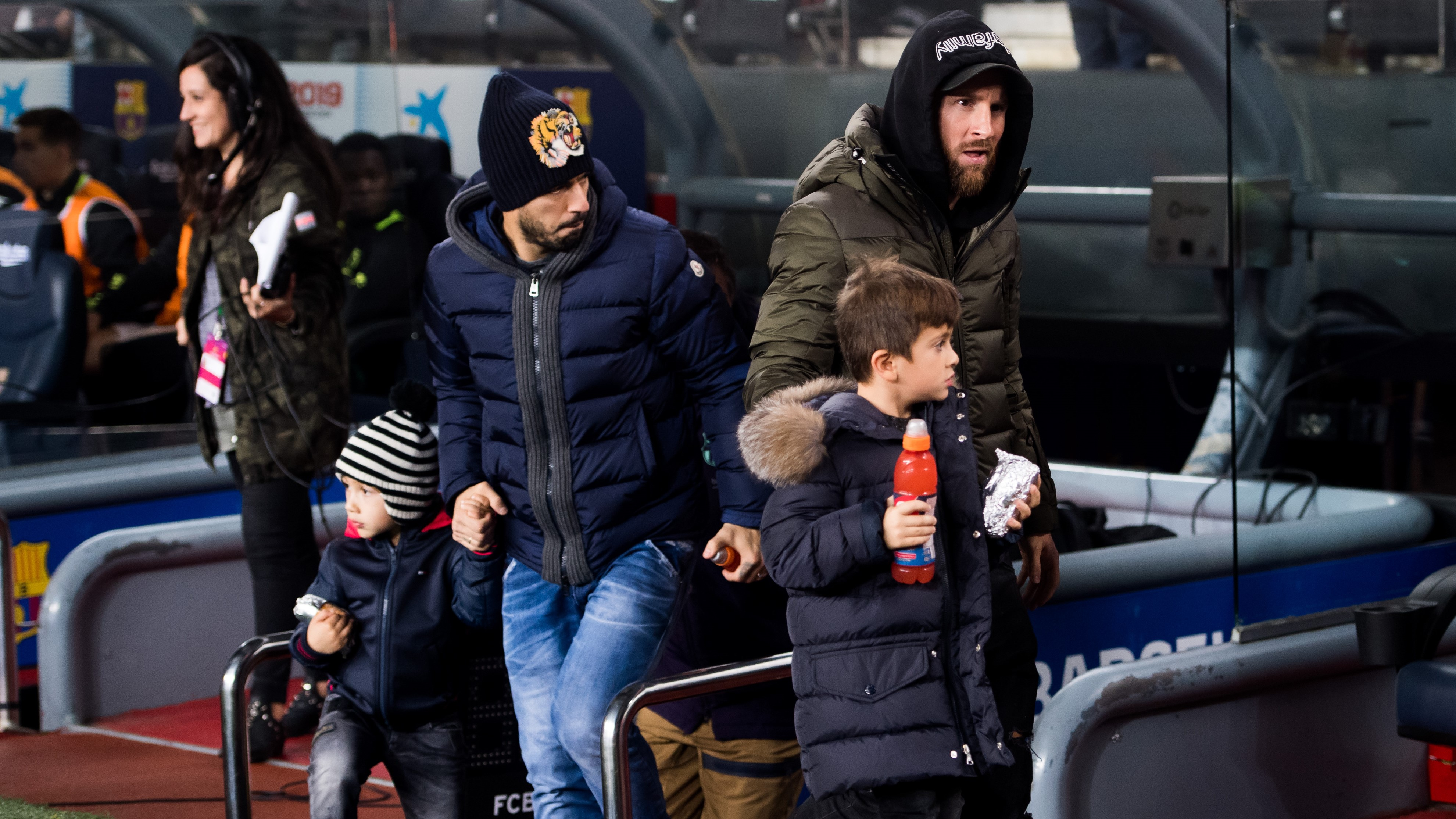 Lionel Messi e hijos Barcelona Cultural Leonesa Copa del Rey 02122018