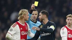 Sergio Ramos yellow card Real Madrid Ajax Champions League