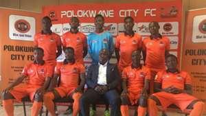 Polokwane City coach Bernard Molekwa & players