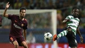 Sergio Busquets Seydou Doumbia Sporting CP Barcelona UCL 27092017