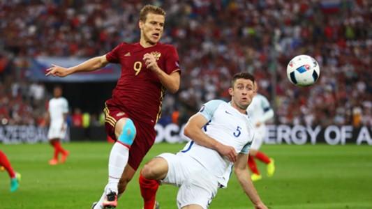 Aleksandr Kokorin, Gary Cahill, England vs Russia, Euro 2016