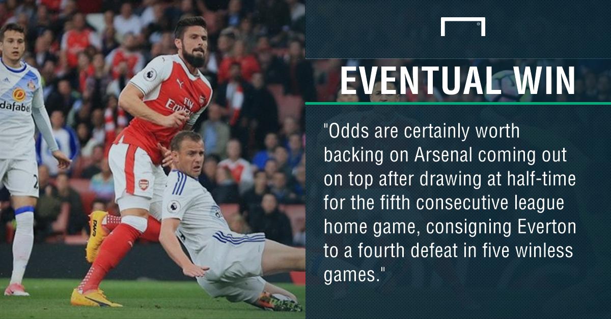 GFX Arsenal Everton betting