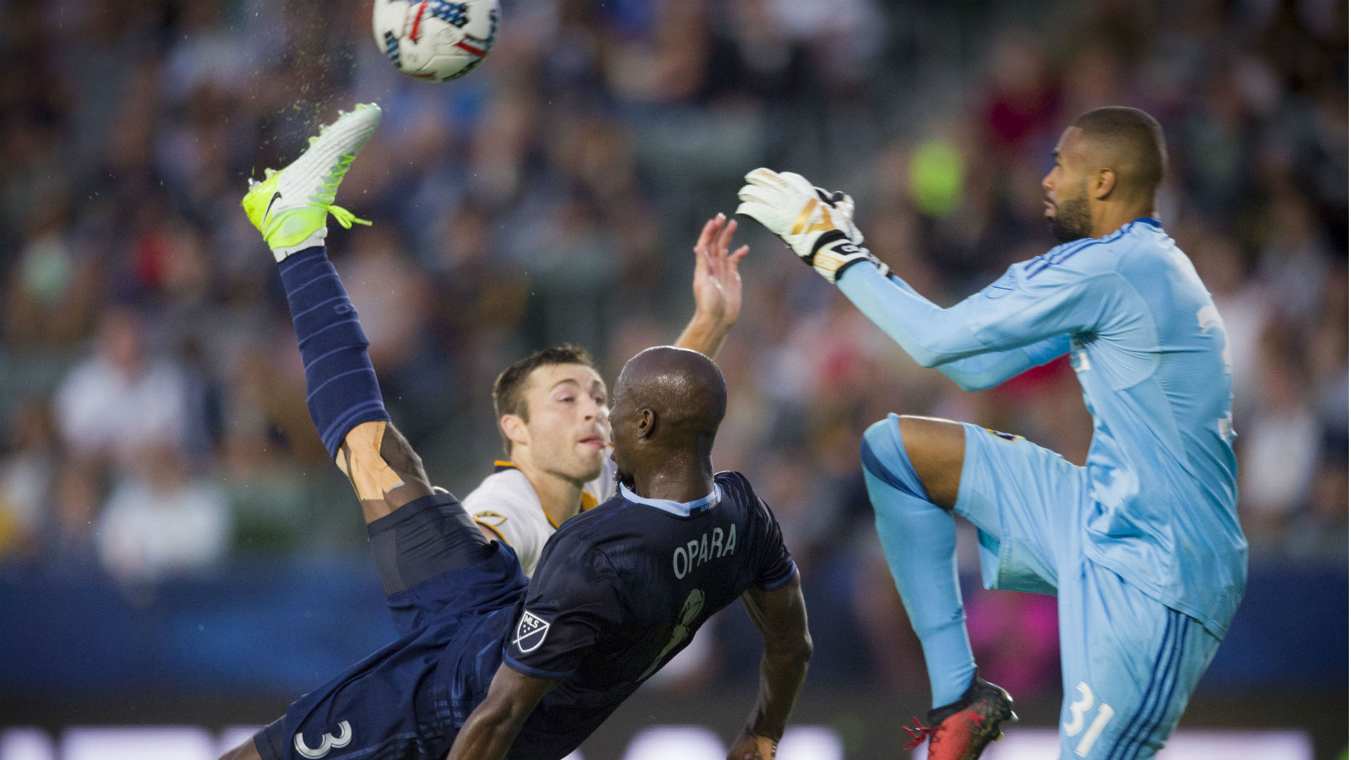 Ike Opara Sporting Kansas City LA Galaxy MLS